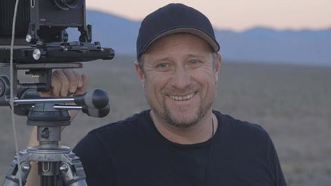 Trevor Paglen at Creech Air Force Base in Indian Springs, Nevada.